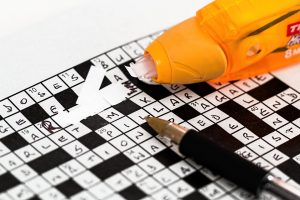 Crosswords pen and liquid correction laying on ground 300x200 - Crosswords pen and liquid correction laying on ground
