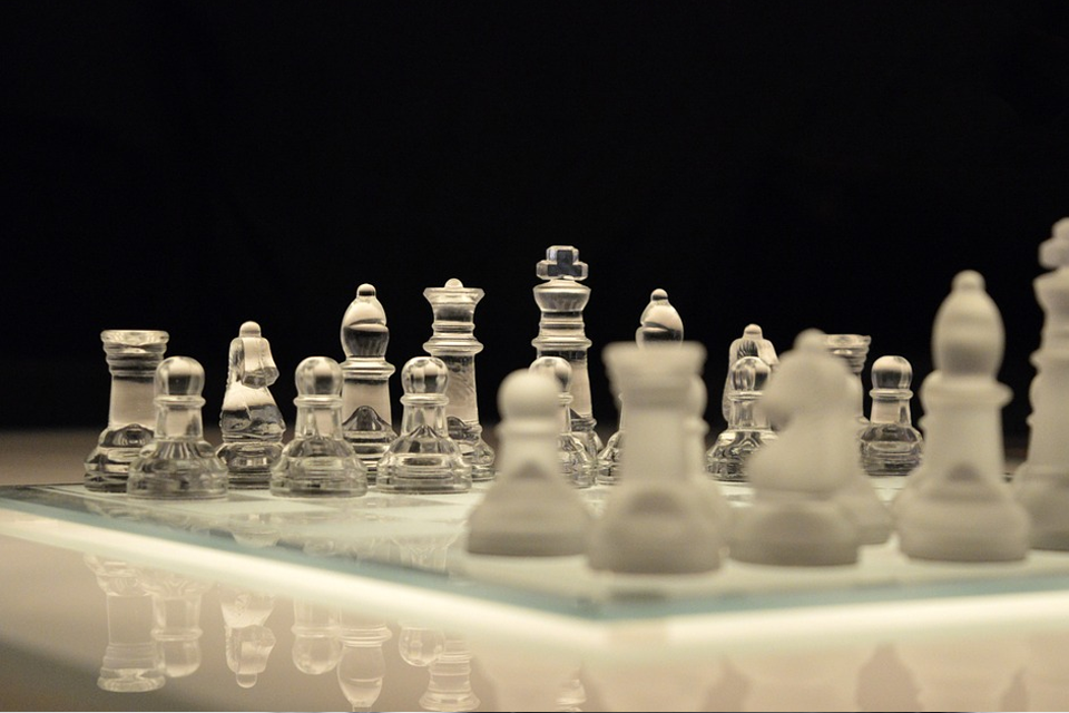 Top Games to Exercise Your Brain US Glass Chess on black Background - Top Games to Exercise Your Brain
